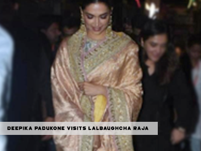 You cannot ignore Deepika Padukone in this gorgeous saree!