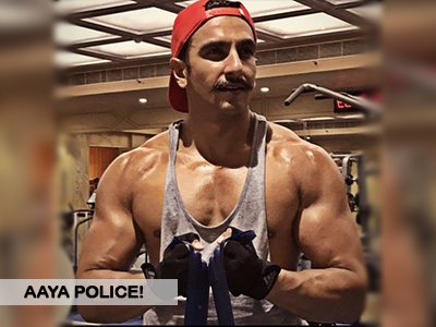 Ranveer Singh is prepping up for his cop look again!