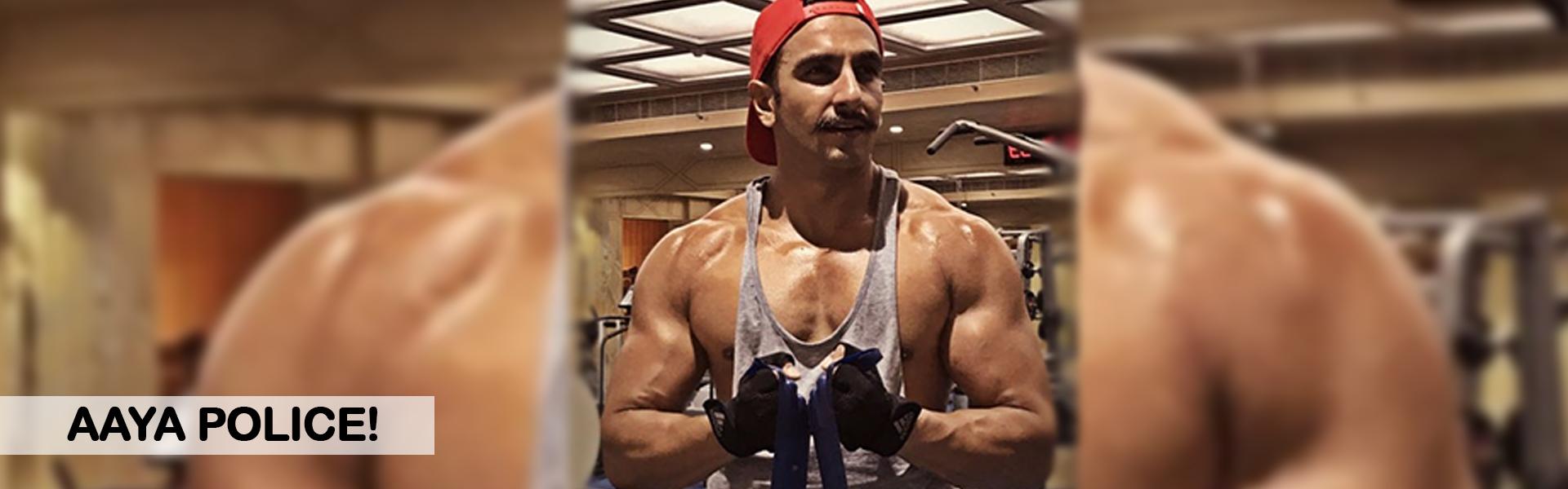 Ranveer Singh is prepping up for his cop look again!