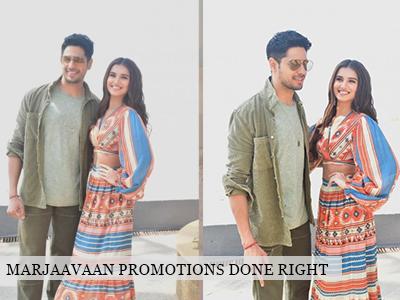 Sid Malhotra and Tara Sutaria promote Marjaavan!
