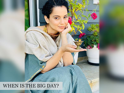 Kangana Ranaut is all set for her wedding vows!