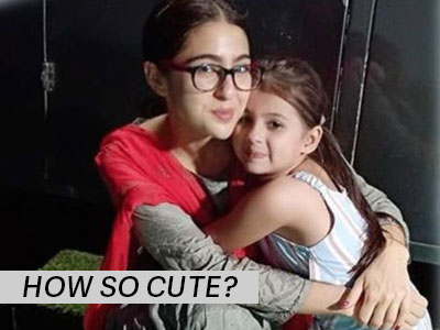 Stumbled upon this adorable picture of Sara Ali Khan with a little someone! <3