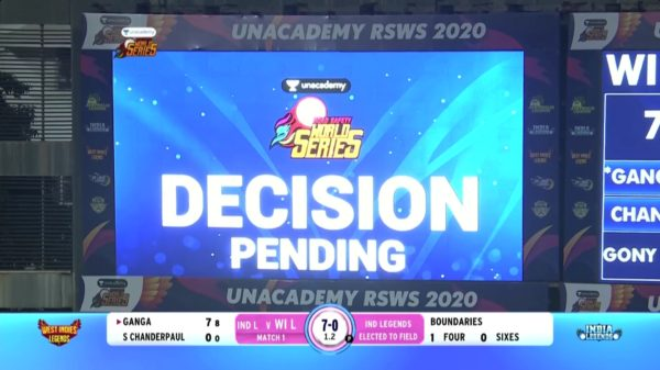 India vs WestIndies | Chandrpaul Not Run Out | 7th March 2020 | Unacademy Road Safety World Series