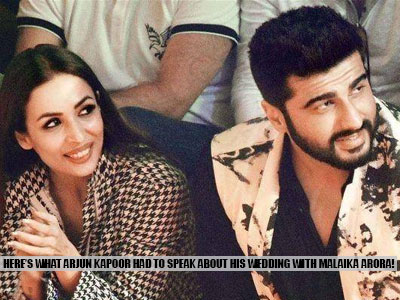 Arjun Kapoor spilled the beans on his wedding with Malaika Arora! Click here to find out more