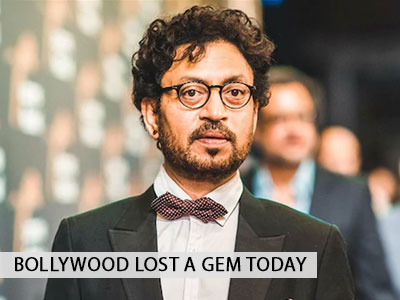 A sad day in Bollywood: Irrfan Khan passes away at 53.