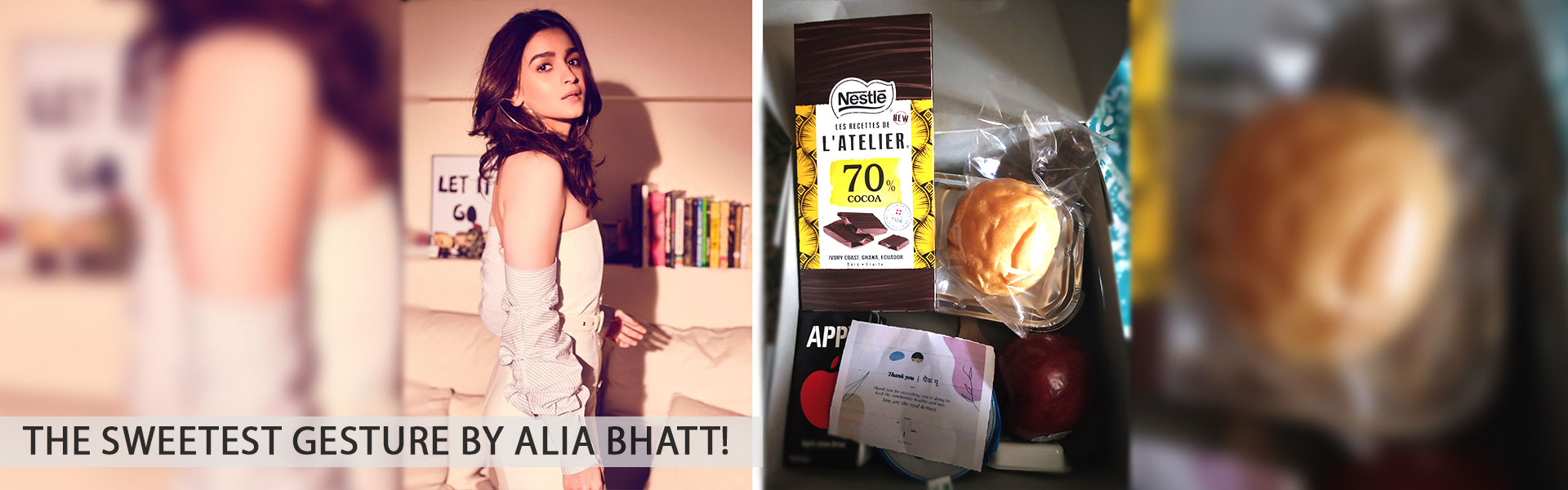 A sweet surprise for the health care professionals by Alia Bhatt