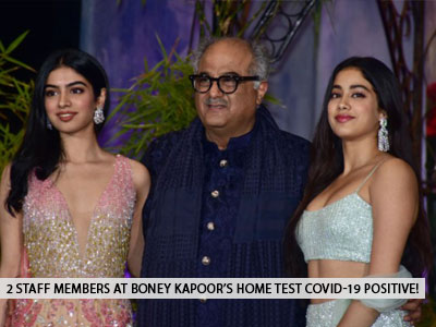 Two staff members At Boney Kapoor's residence test Covid-19 positive