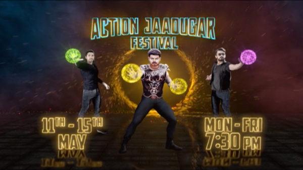 Inse jo takrayega woh chur chur ho jayega! Dekhiye #ActionJaadugar #film festival, 11th-15th May raat 7:30 baje sirf #ColorsCineplex par.