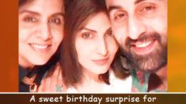 Ridhima Kapoor & Ranbir Kapoor make mom Neetu Kapoor's birthday memorable!