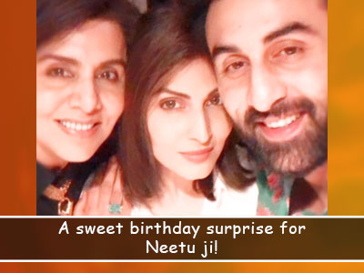 Ridhima Kapoor & Ranbir Kapoor make mom Neetu Kapoor's birthday memorable!