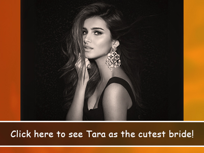 Tara Sutaria thanks Bollywood for letting her inner bridezilla come out!