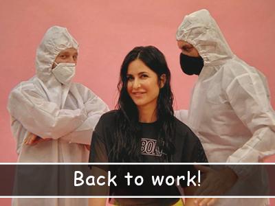 Katrina Kaif resumes work and she's happy to be back!