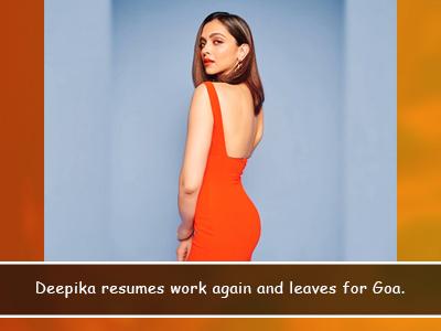 Deepika Padukone heads back to Goa for her shoot