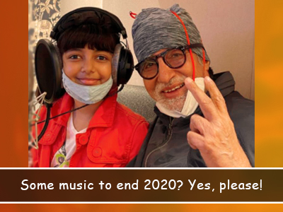 Aaradhya Bachchan joins her Grandfather Amitabh Bachchan to end the year on a musical note!