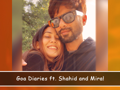 Shahid and Mira are making the most of their Goa Holiday!