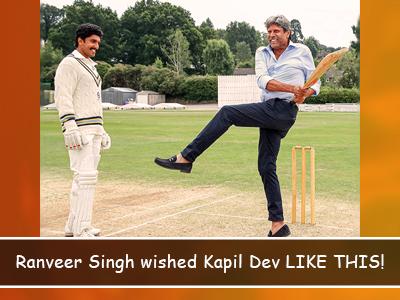 A grand birthday wish for Kapil Dev by Ranveer Singh!