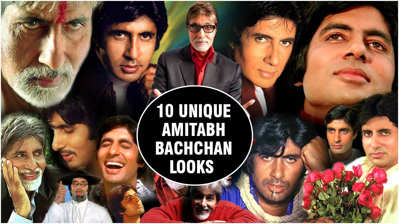 Amitabh Bachchan's most unique looks over the decades.