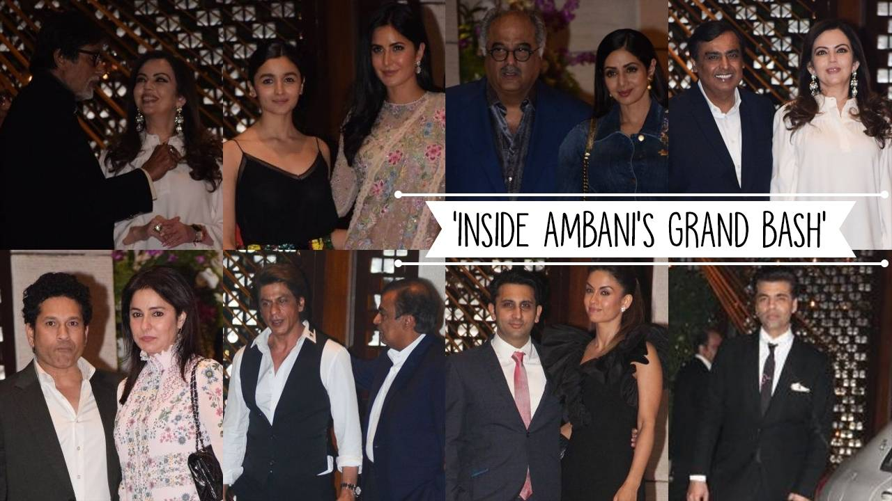 Bollywood Celebrities partied it up at Ambani's weekend bash