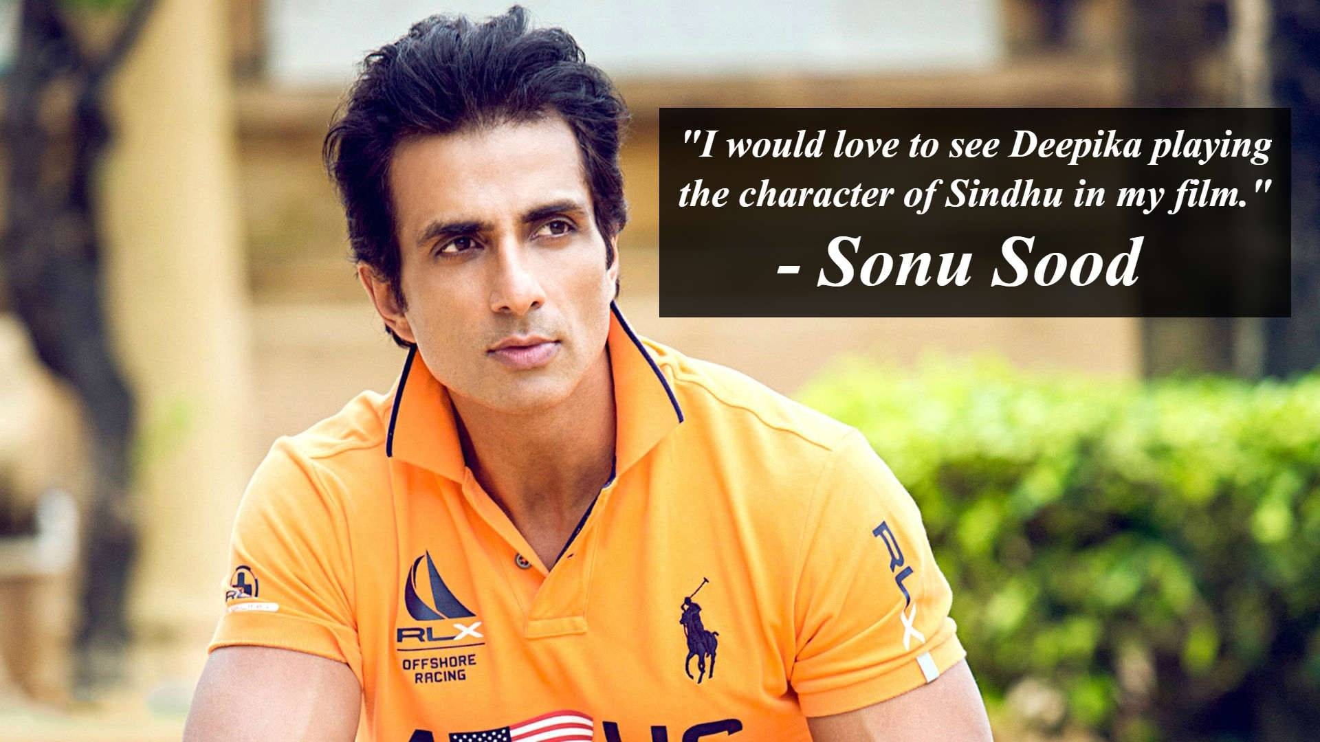 Sonu Sood to make a biopic on PV Sindhu
