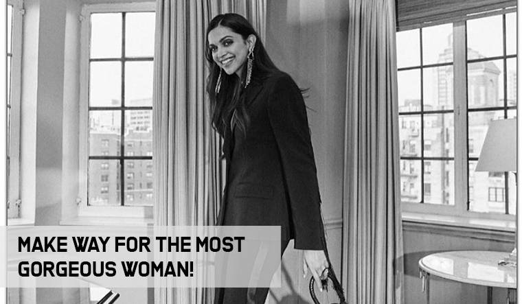 Deepika Padukone slays in a black suit and we cannot get enough of it!