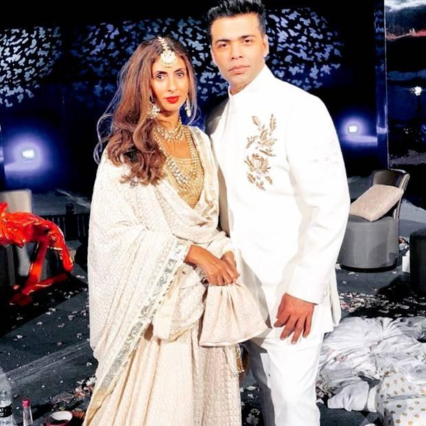 Karan-Johar-and-Shweta-Bachchan-at-the-at-the-Mohit-Marwah-Antara-Motiwala-wedding